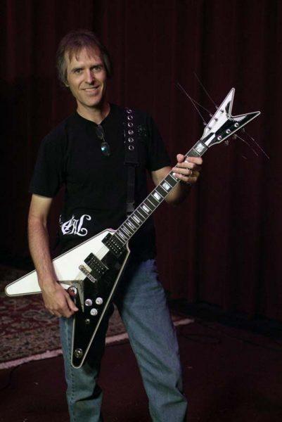 Dave Celentano Holding Special Guitar