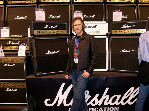 Dave Celentano With Amplifiers in Background